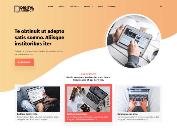 digital agency lite wordpress theme