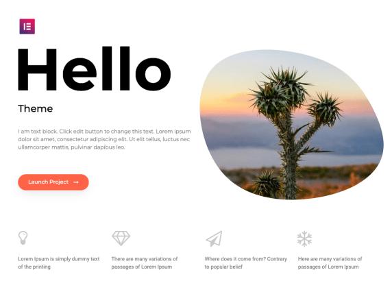 hello wordpress theme