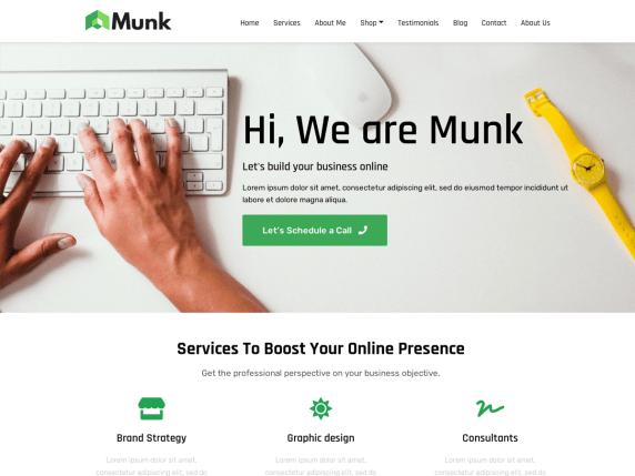 munk wordpress theme