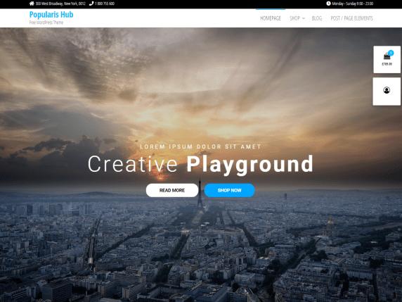 popularis hub wordpress theme