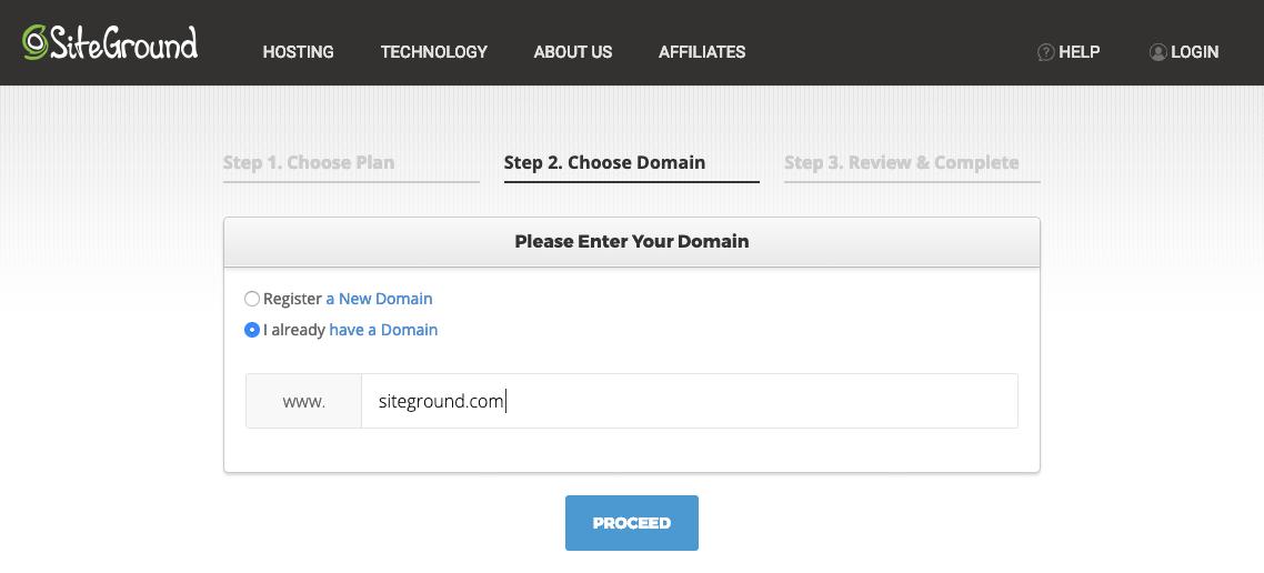 siteground domeinnaam registratie