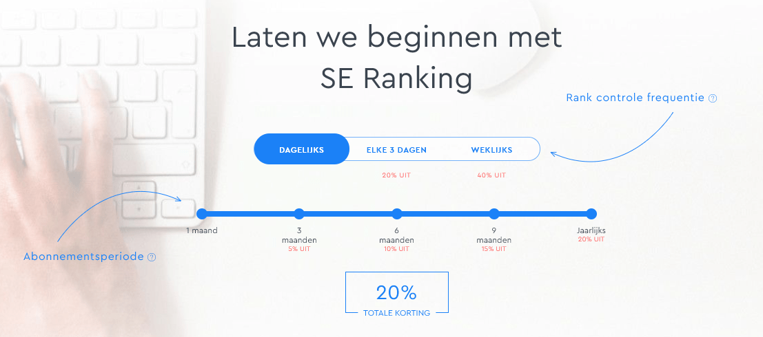 SE Ranking prijzen