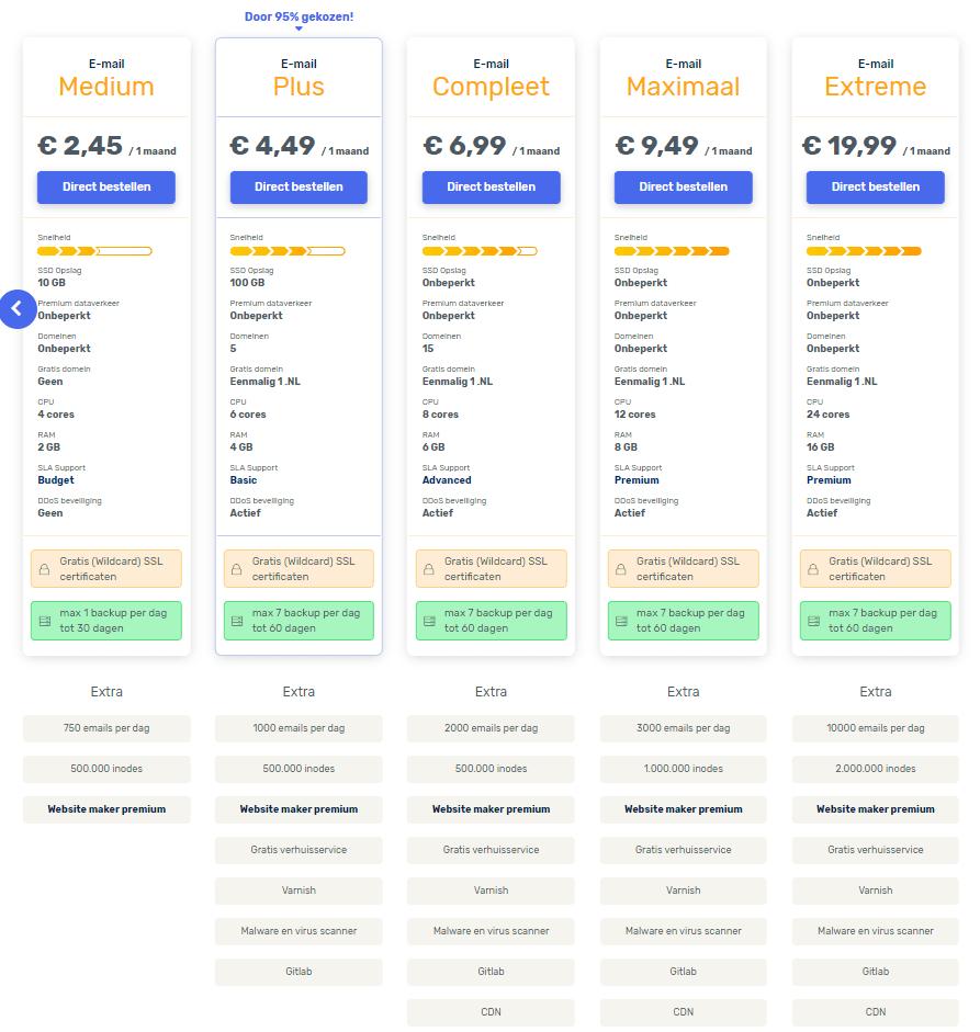 vimexx webmail prijzen