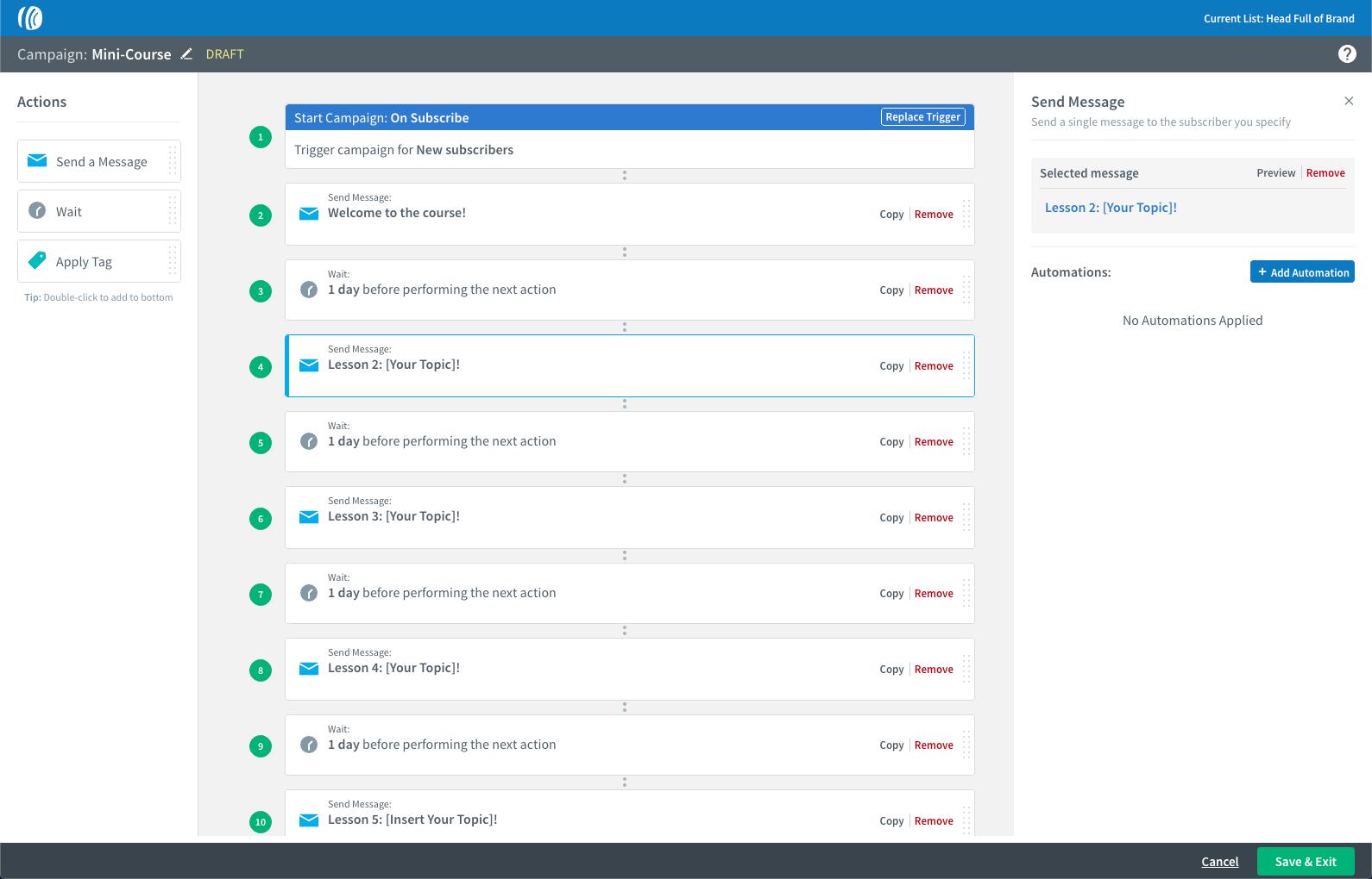 AWeber automatische mails
